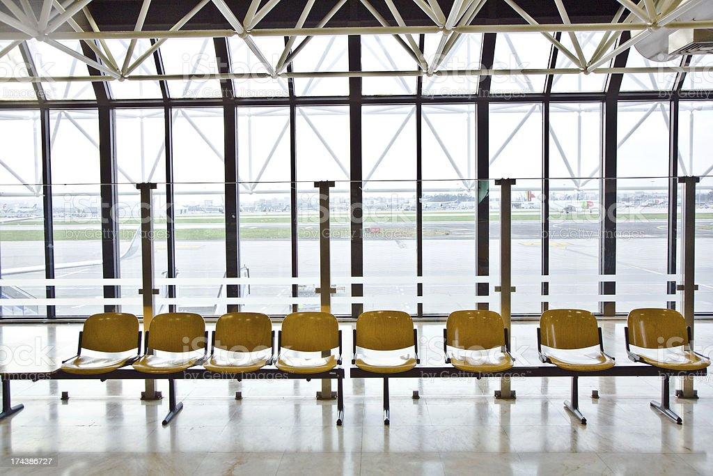 Portão no aeroporto - foto de acervo