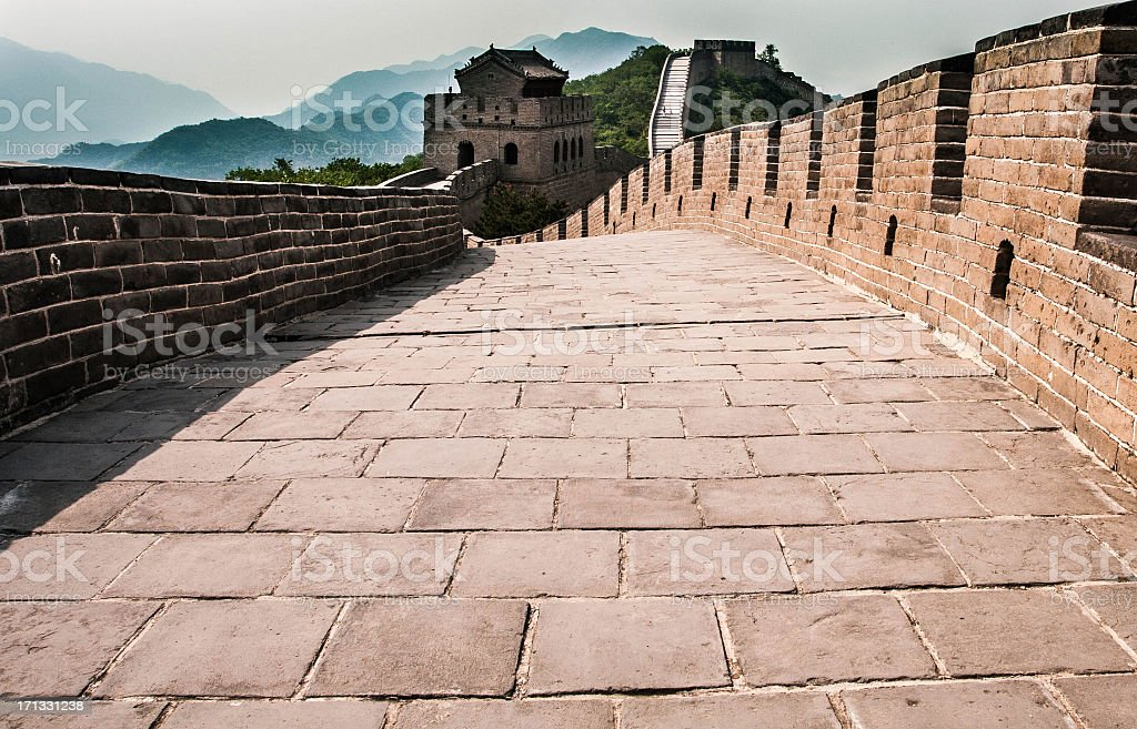 Gate at the Great Wall royalty-free stock photo