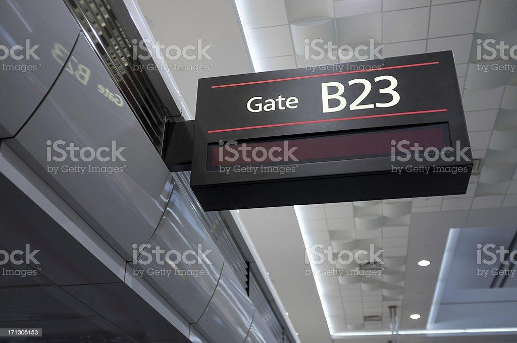 Gate B23 stock photo