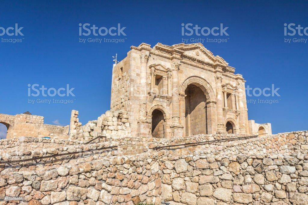 Gate in Jerash stock photo