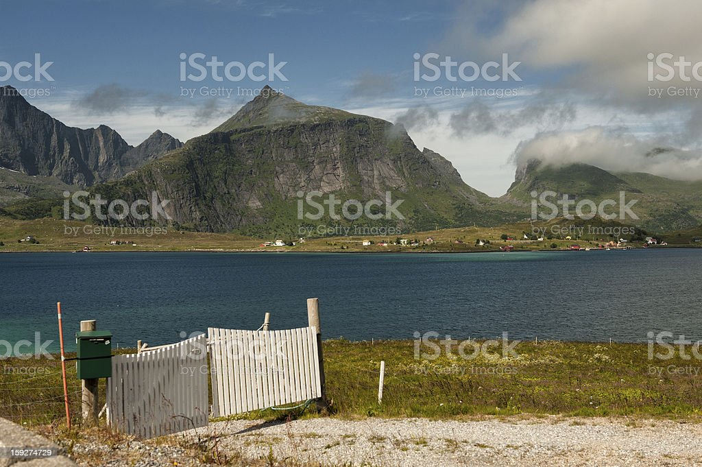 Gate in northern Norway royalty-free stock photo