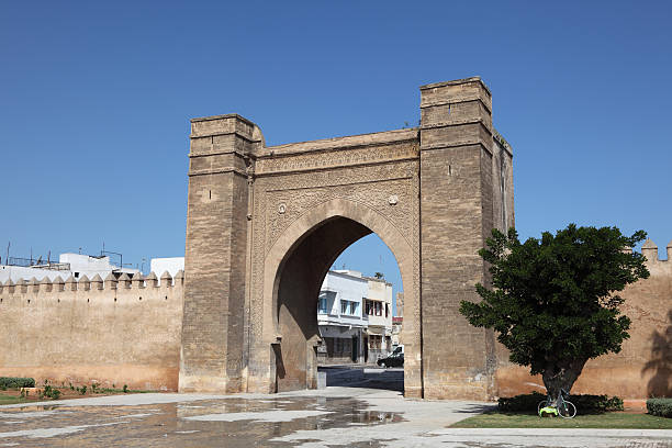 Gate in Sale, Morocco Ancient gate to the medina of Sale, Morocco salé morocco stock pictures, royalty-free photos & images