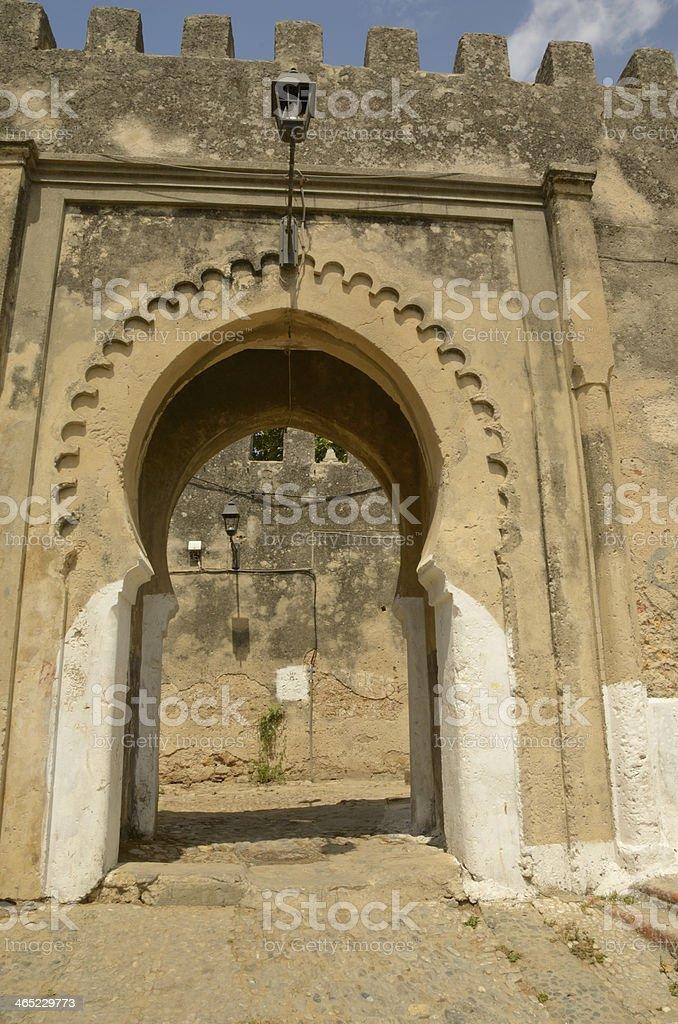 Gate in Tangier stock photo