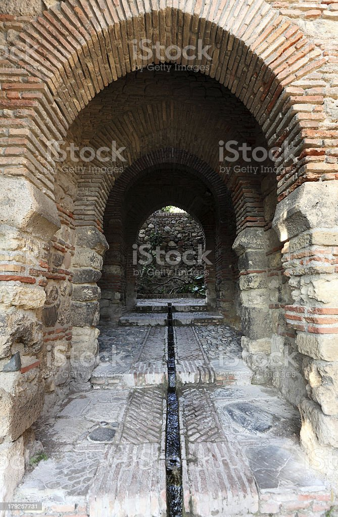 Gate in the Alcazaba of Malaga, Spain royalty-free stock photo