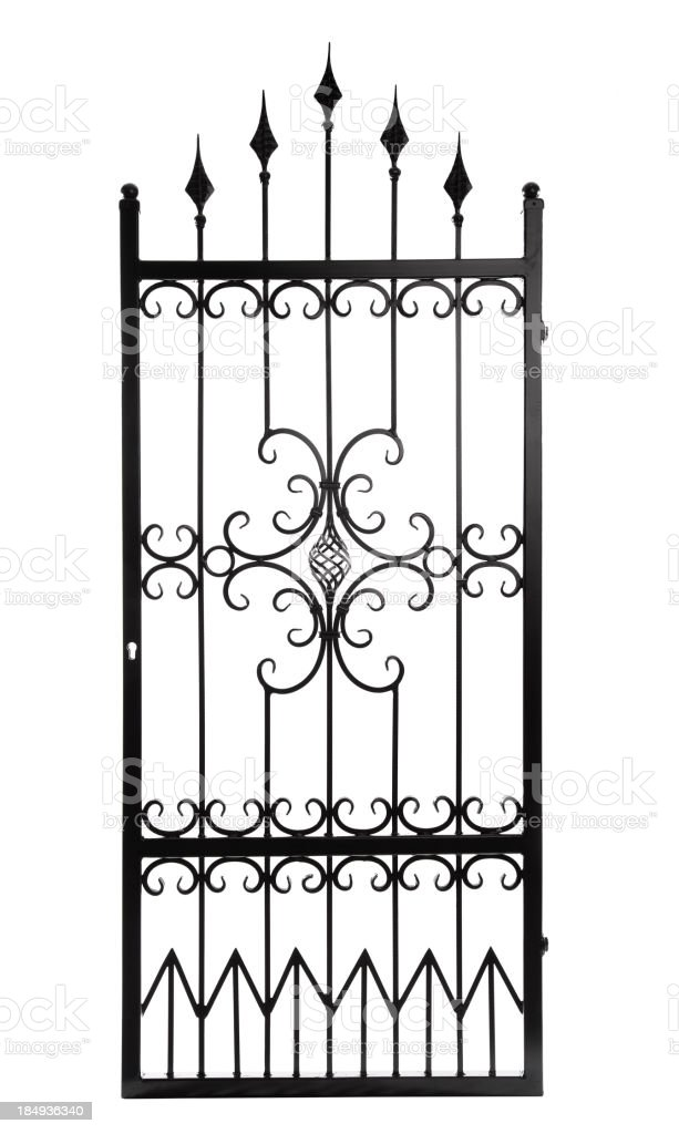 Gate Isolated royalty-free stock photo