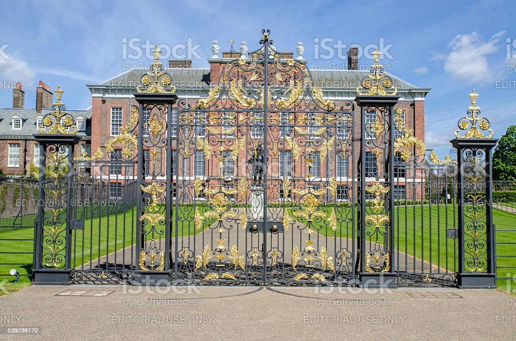 Gate located on the side of Kensington Palace royalty-free stock photo