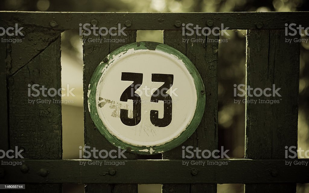Gate number 33 royalty-free stock photo