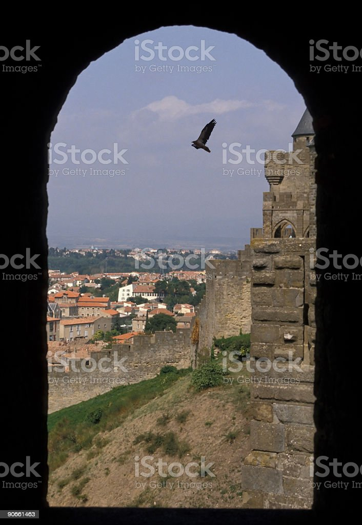 Gate of a Castle stock photo