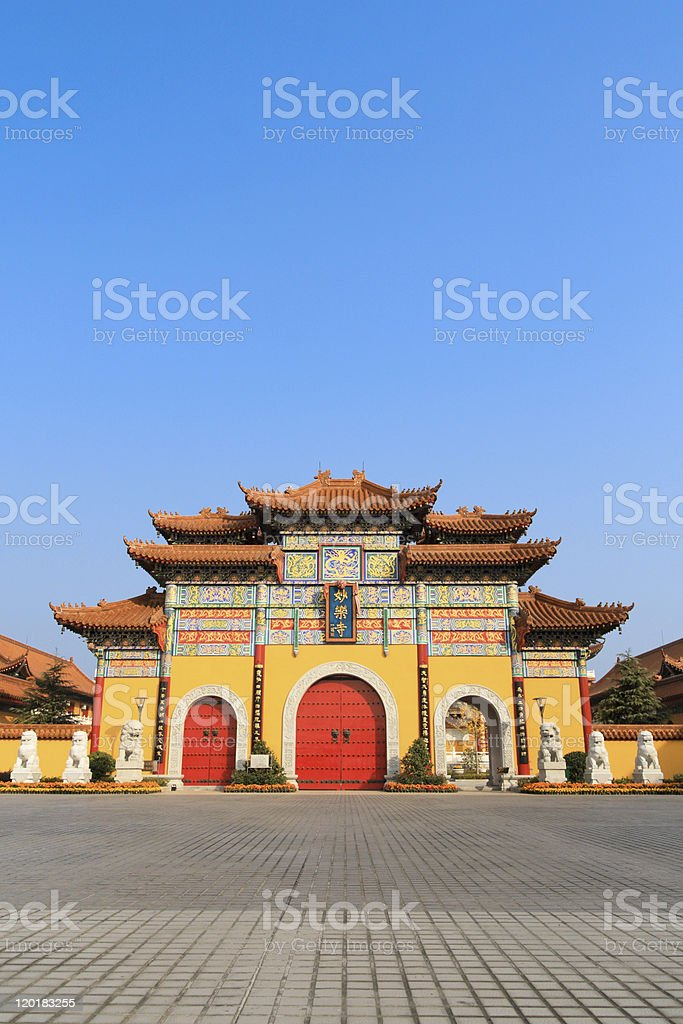 gate of buddhist temple royalty-free stock photo