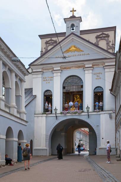 Gate of Dawn in Vilnius stock photo