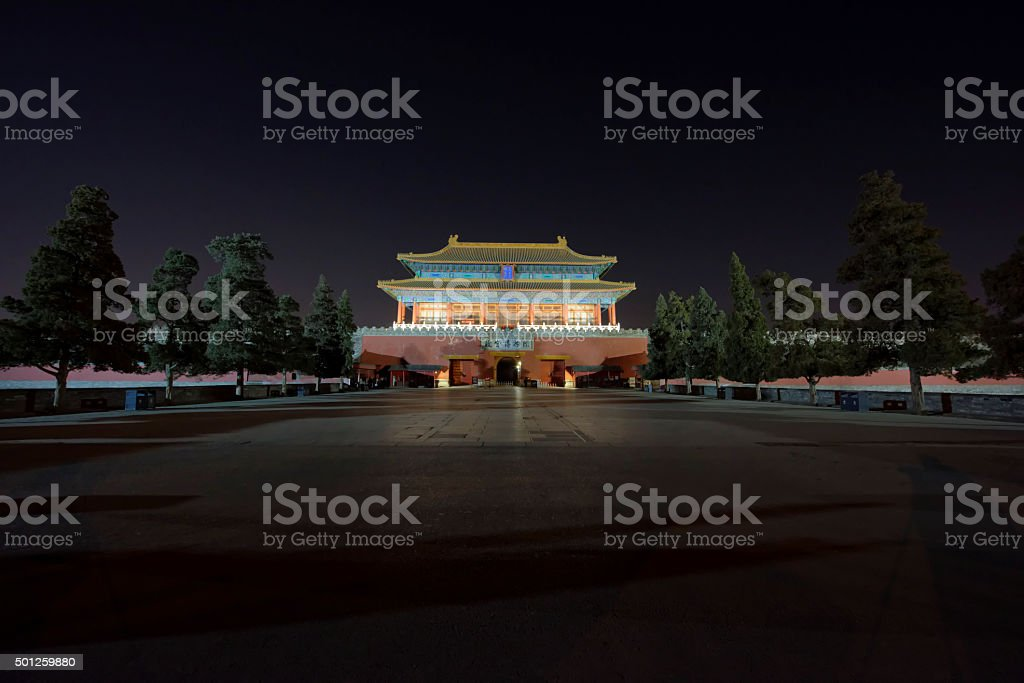 Gate of Divine Might (Beijing) stock photo