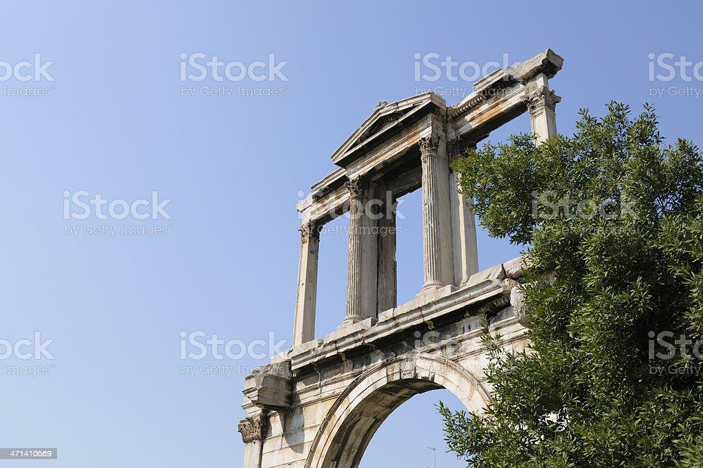 Gate of Hadorianus, Greece stock photo
