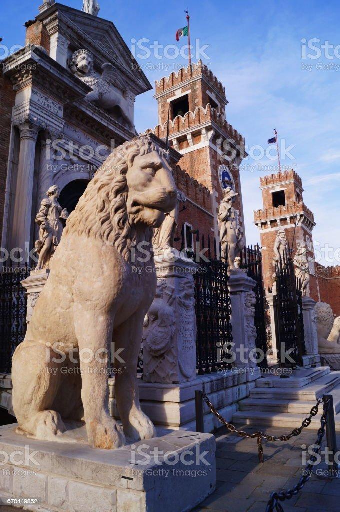 Portal do distrito de Arrenal, Veneza - foto de acervo