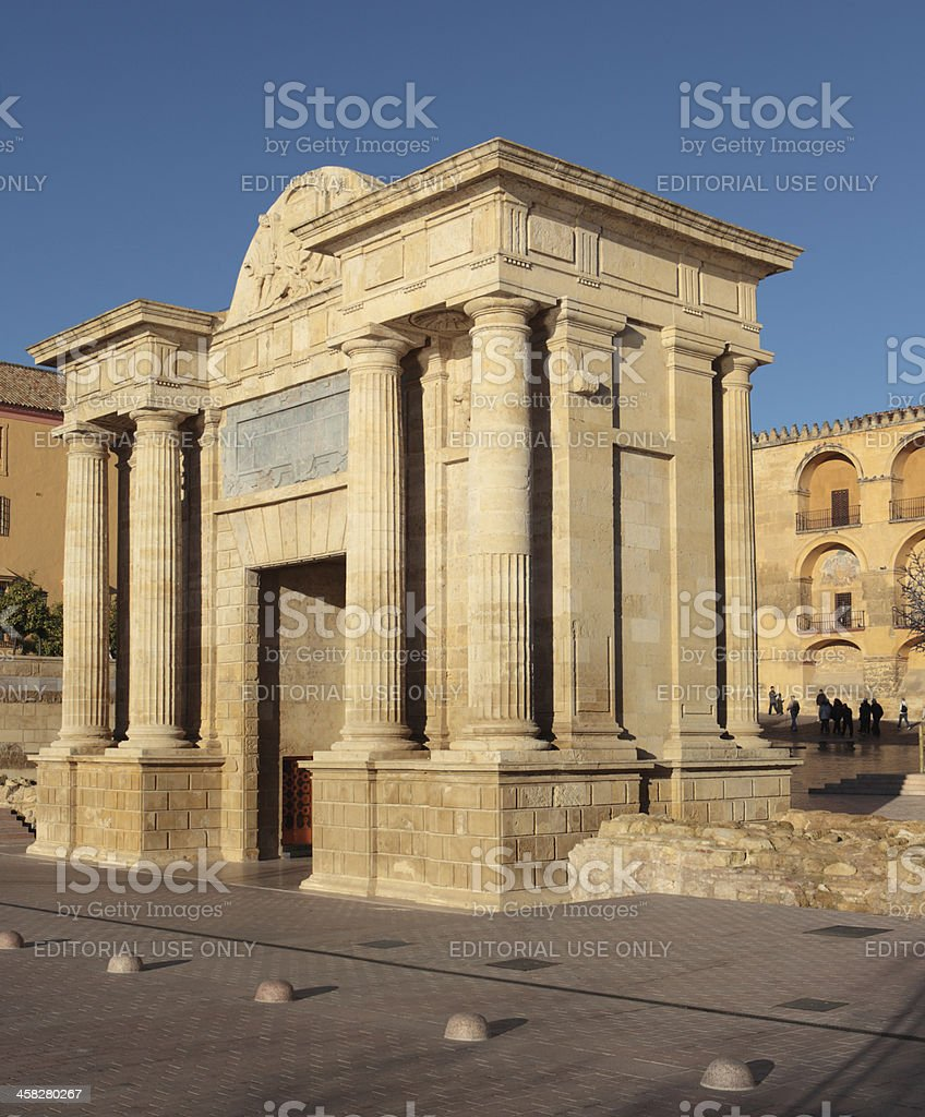 Gate of the Bridge in Cordoba, Spain royalty-free stock photo