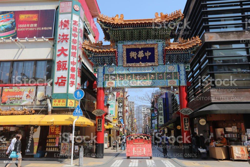 橫濱唐人街牌樓圖像檔