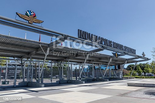 istock Gate One Entrance at Indianapolis Motor Speedway. IMS ran the Indy 500 without fans due to COVID concerns. 1267223705