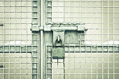 istock Gate padlock 470229819