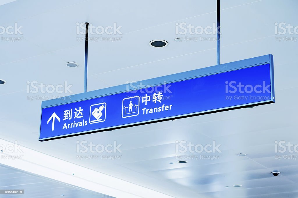 Gate sign at the airport royalty-free stock photo