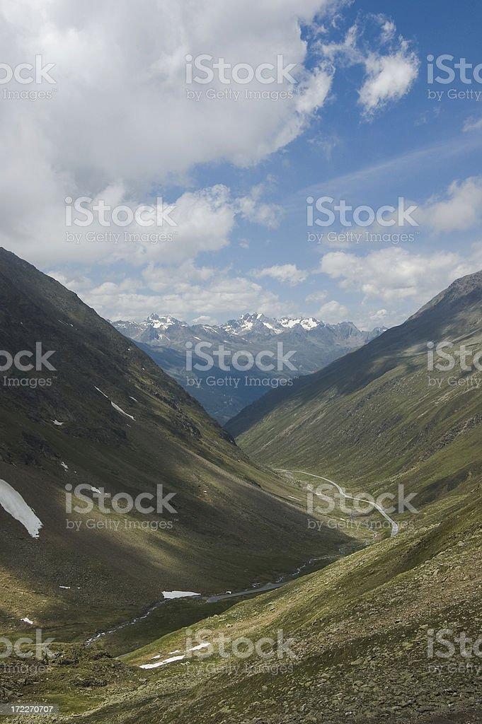 Gate through European Alps royalty-free stock photo