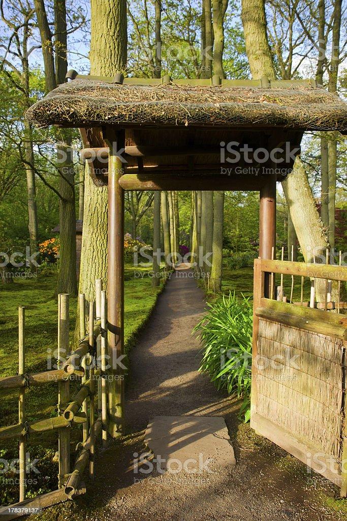 Photo libre de droit de Porte Vers Jardin Japonais banque d ...