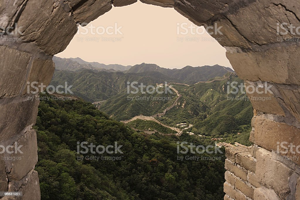 Gate to the Great Wall stock photo