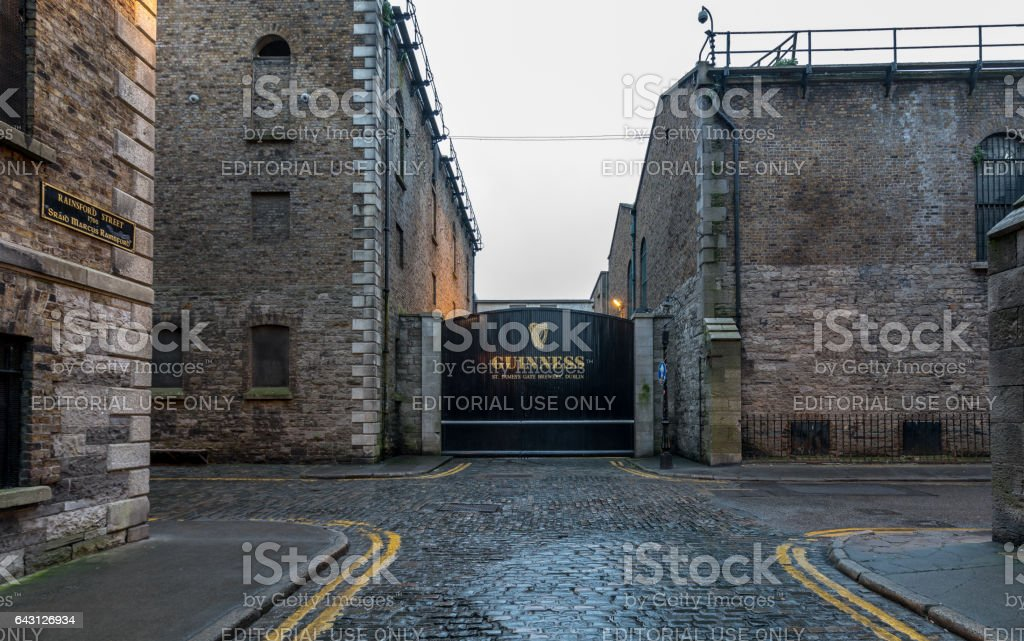 Gate to the Guinness Brewery, Dublin stock photo