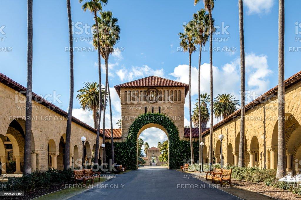 Gate To The Main Quad At Stanford University Campus Palo Alto California Usa