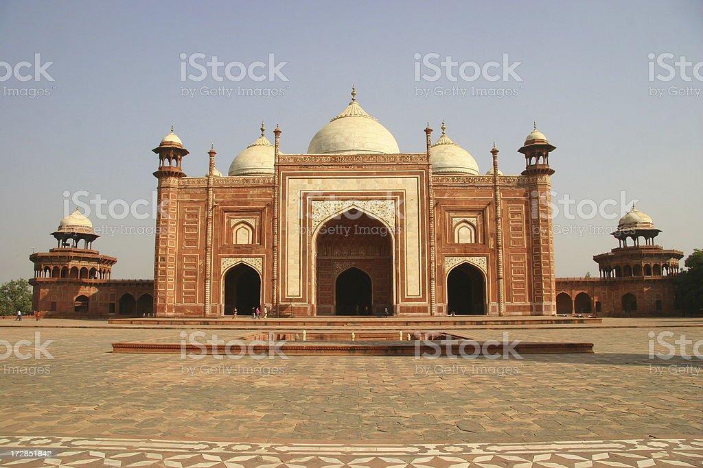 Gate to the Taj Mahal stock photo
