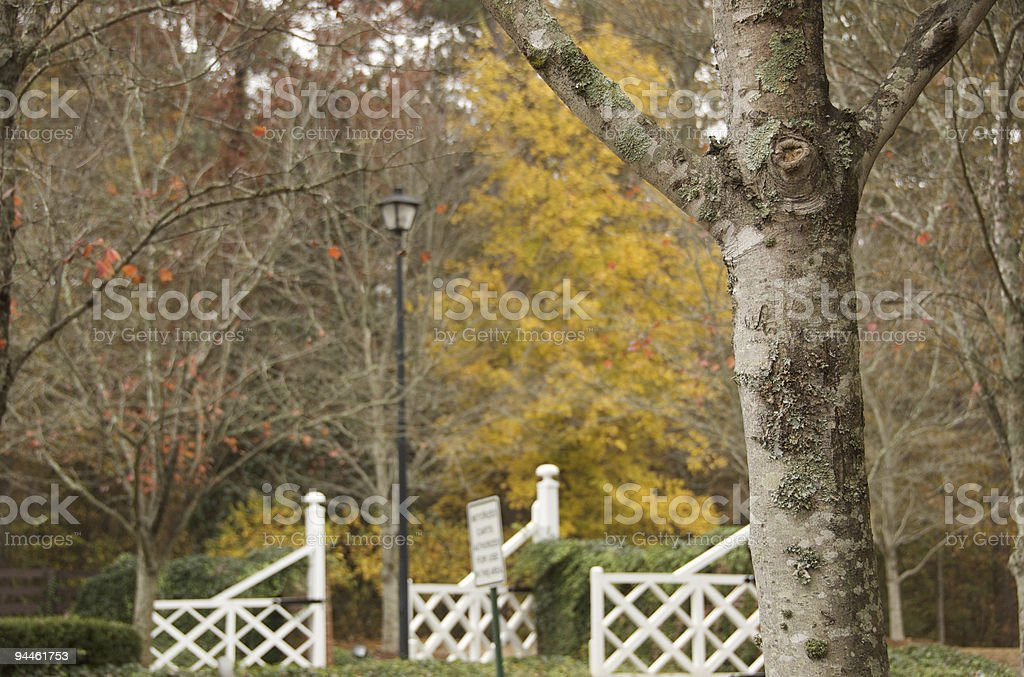 Gated community entrance in Southern Atlanta royalty-free stock photo