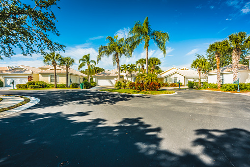 istock Gated community houses with palms, South Florida 902803734