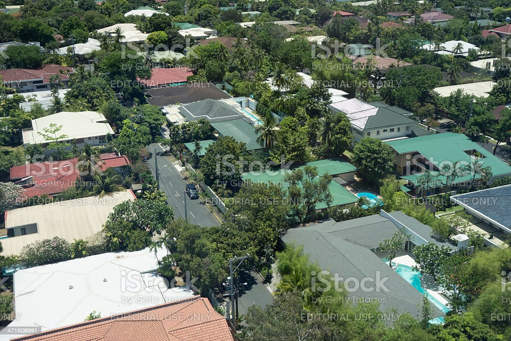 Gated community in Manila royalty-free stock photo