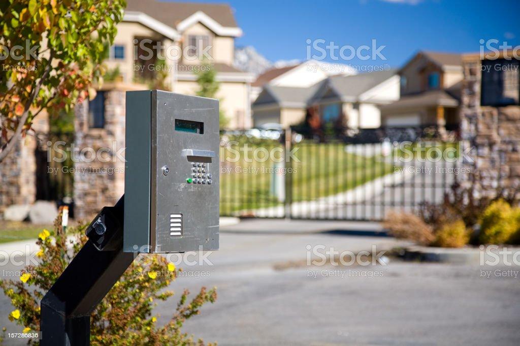 Gated Community royalty-free stock photo
