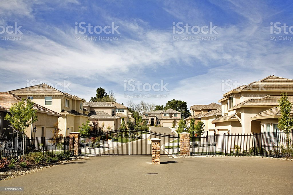 Gated Community stock photo
