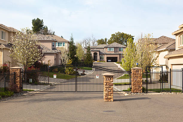 Gated Community Gated community in California.More Exteriors here: gated community stock pictures, royalty-free photos & images
