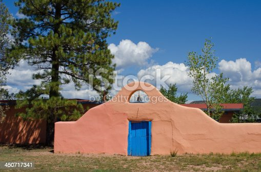 Martin Kozlowski ran a ranch and stage stop along the Santa Fe Trail in what is now part of the Pecos National Historical Park.  During the Civil War, Union soldiers camped on his ranch and after the battle of Glorieta Pass, the stage stop building was used as a union field hospital.  Pictured here is a surrounding adobe wall with a colorful