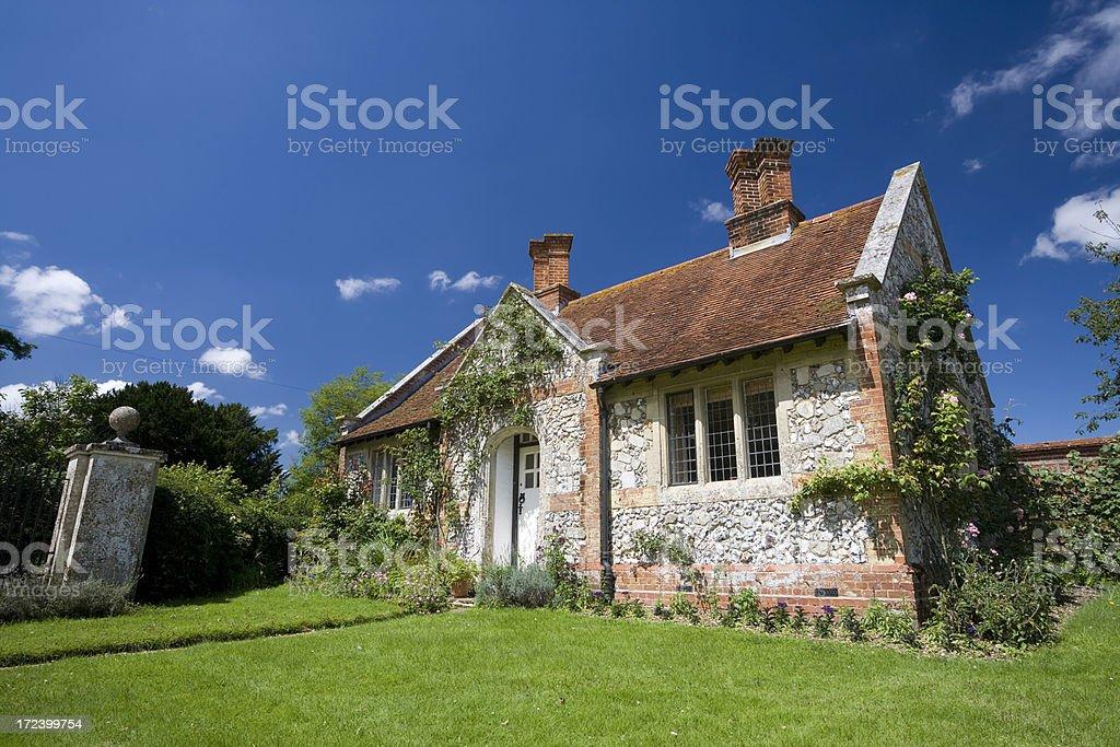 Gatehouse Cottage at Mottisfont stock photo
