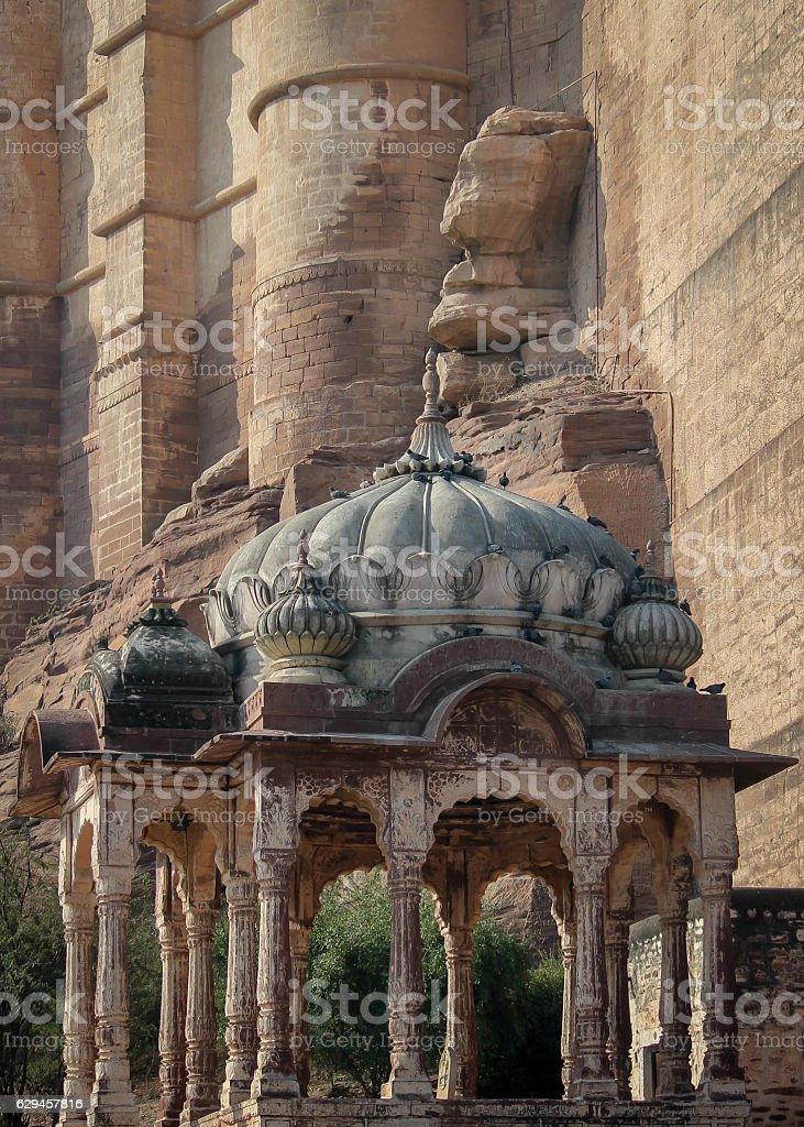 gatehouse of Mehrangarh Fort,  Jodphur,  Rajasthan,  India stock photo