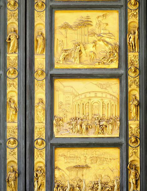 gates of paradise, florenz, italien - engelportal stock-fotos und bilder
