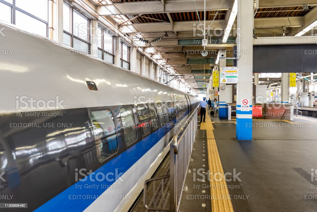 Gates of Shinkansen high-speed bullet train stock photo