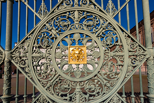 Gates of the Royal Palace in Turin Piedmont Italy