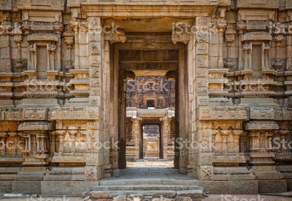 Gates of the temple of Hampi, Karnataka, India - Royalty-free Ancient Stock Photo