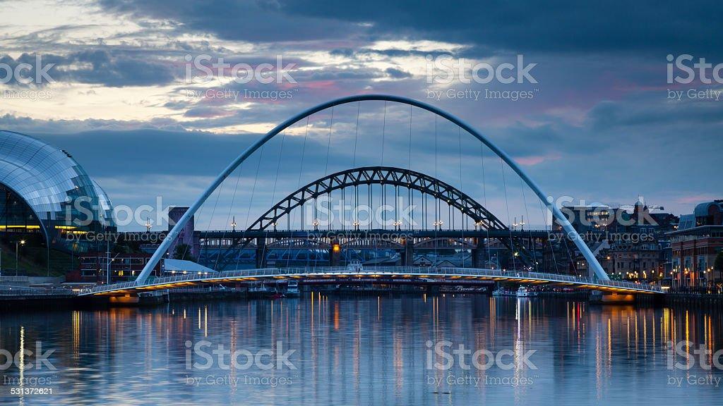 Gateshead Evening stock photo