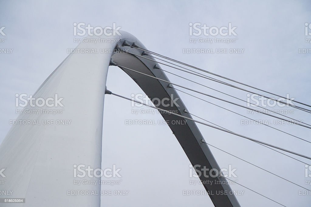 Gateshead Millenium Bridge stock photo