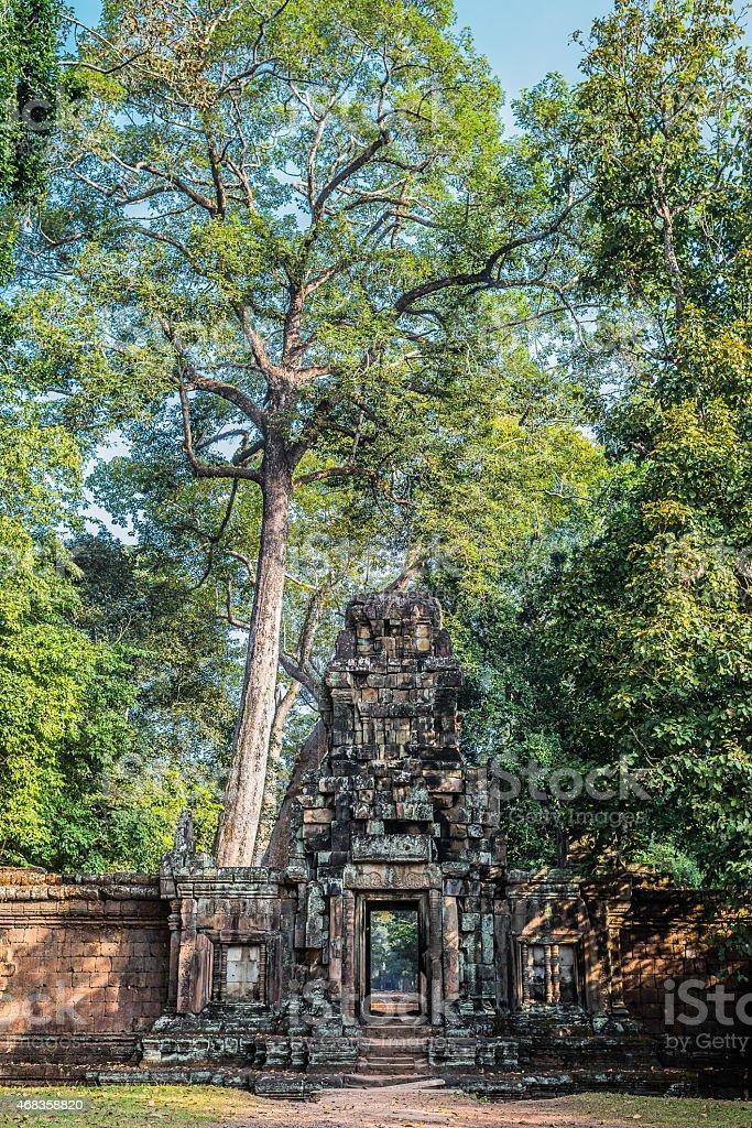 gateway Angkor Thom Cambodia royalty-free stock photo