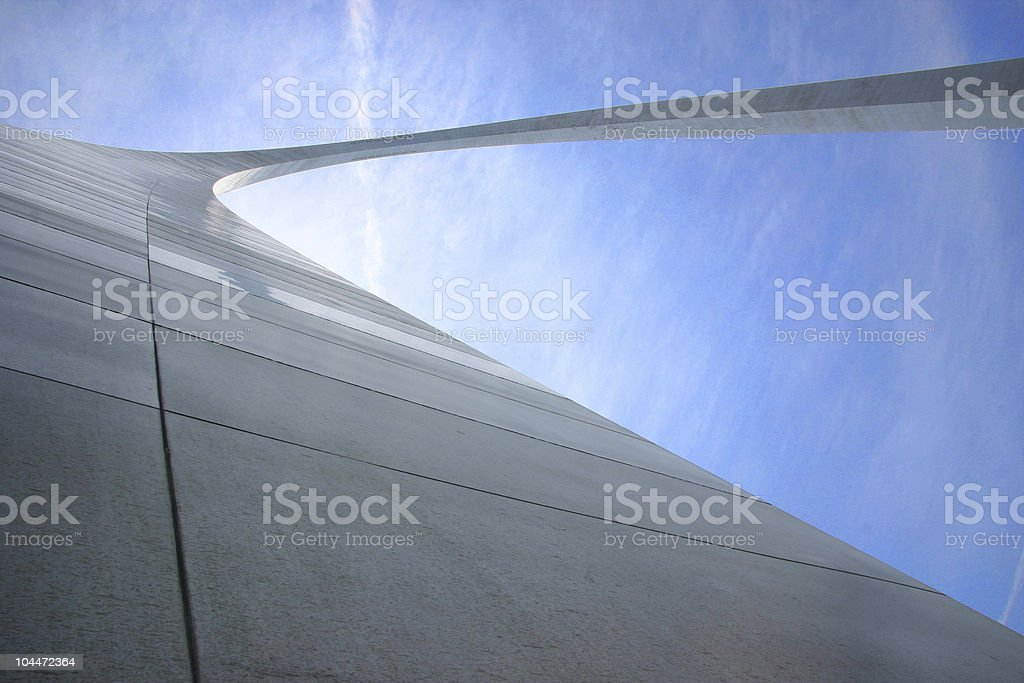 Gateway Arch from Below royalty-free stock photo