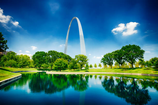 Gateway Arch In St. Louis, Missouri, USA stock photo