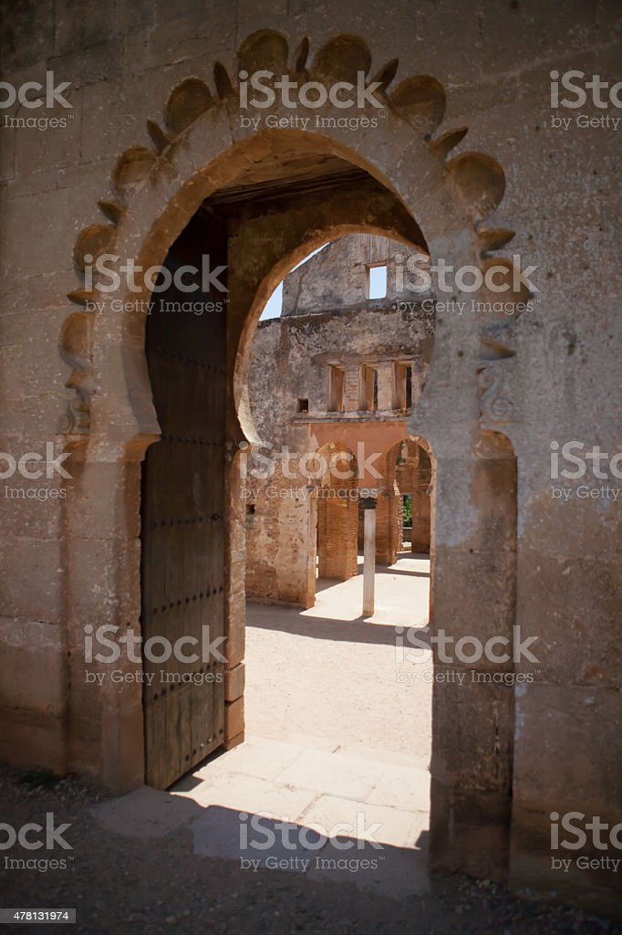 Gateway at the ruins of Chellah in Rabat Morocco stock photo