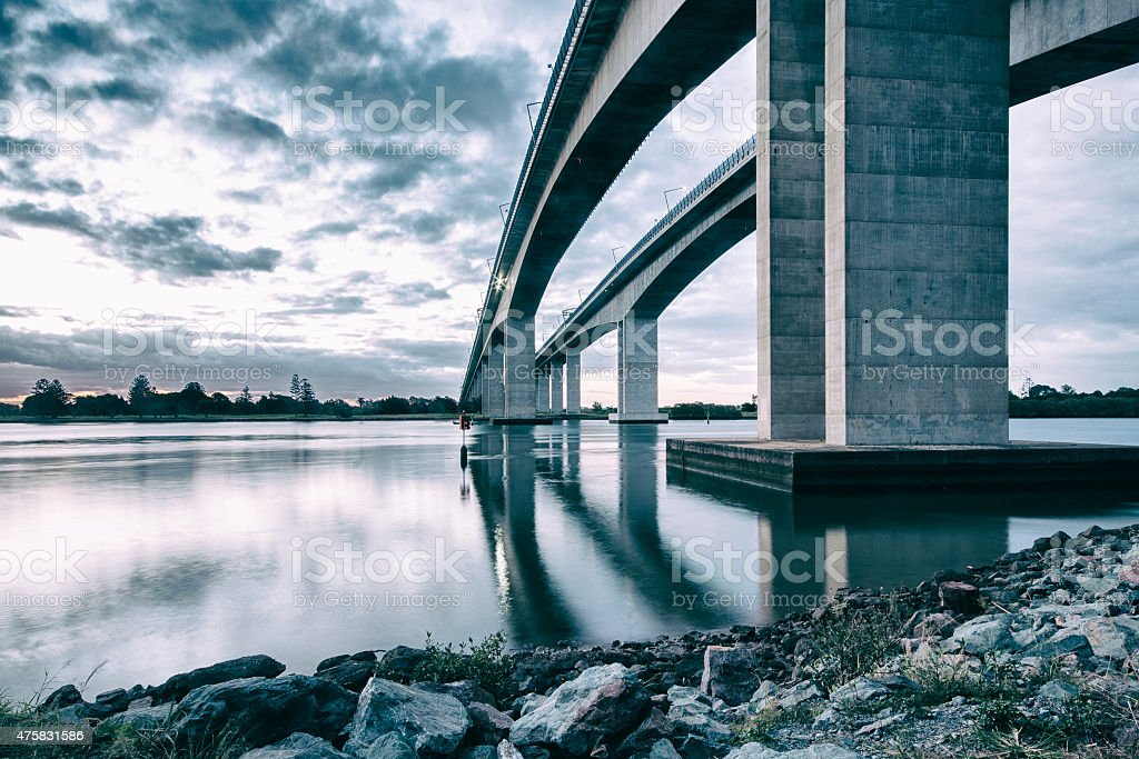 Gateway Bridge in Brisbane, Queensland stock photo