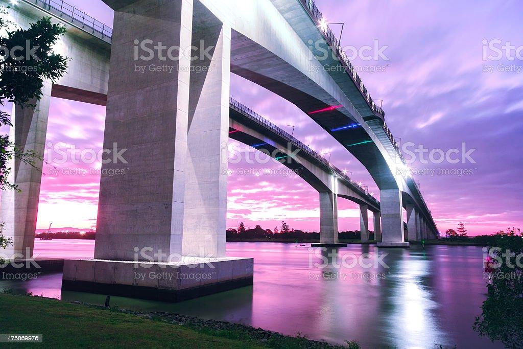 Gateway Bridge in Brisbane, Queensland stock photo