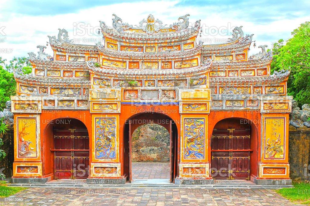 Gateway Hien Lam Pavilion stock photo
